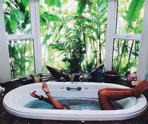 girl, bath, and summer image