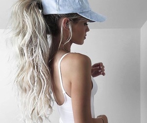 blonde, cap, and inspo image