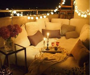 light, romantic, and home image