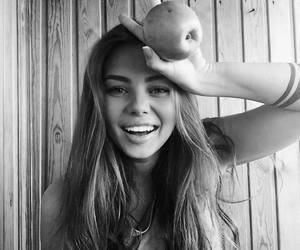 apple, black, and girl image