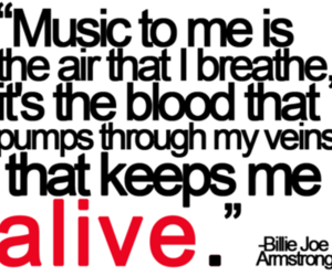 music, quote, and alive image