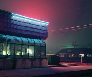 night, neon, and aesthetic image