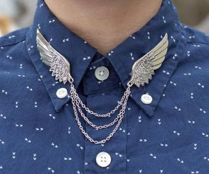 wings, fashion, and silver image
