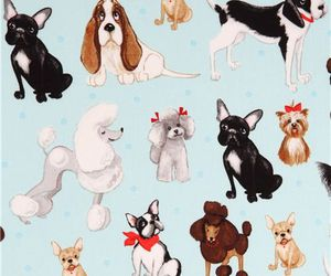 background, dogs, and pattern image