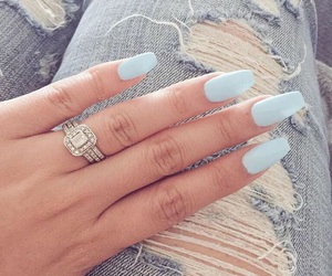 nails, blue, and jeans image