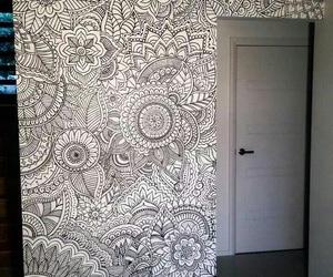 mandala, room, and art image