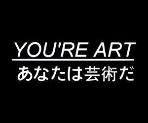 art, black, and japanese image