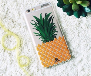 ananas, case, and yellow image