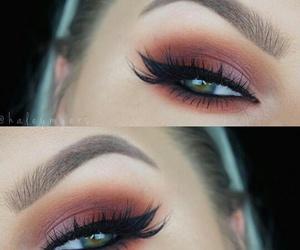 brown, makeup, and eye image