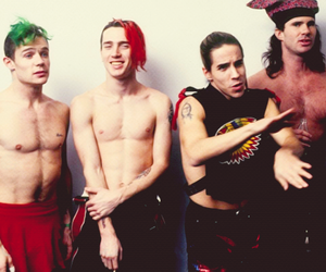 red hot chili peppers, flea, and rhcp image