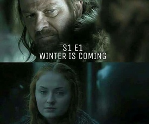 game of thrones, got, and winter is here image