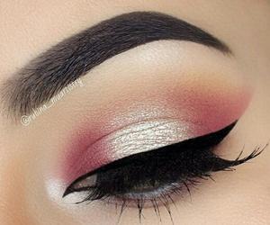 eye, eyeliner, and gold image