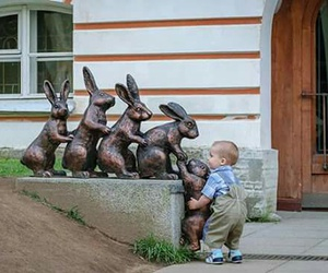 baby, help, and rabbit image