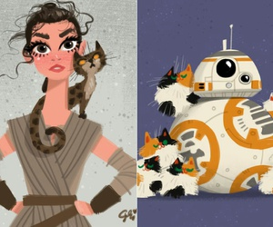 star wars, art, and cats image