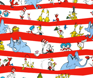 background, the cat in the hat, and dr seuss image