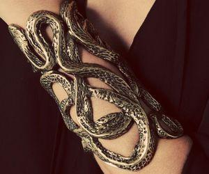 bracelet, gauntlet, and slytherin image