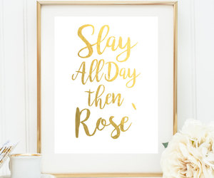 home decor, rose, and wall hanging image
