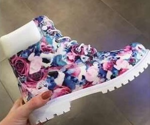 floral, shoes, and white image