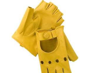 gloves and yellow image
