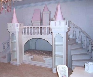 castle, princess, and bed image