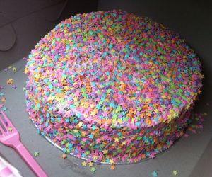 cake, food, and stars image