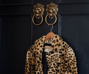 coat, leopard, and print image