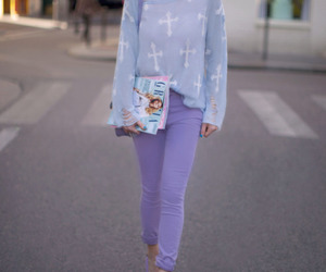 fashion, pastel, and purple image