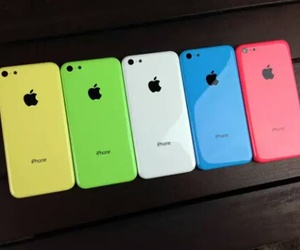 iphone, apple, and blue image