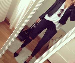 blanco, negro, and outfits image