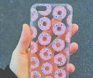 donuts, case, and pink image