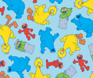 background, pattern, and sesame street image