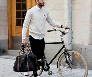 bike, fashion, and man image