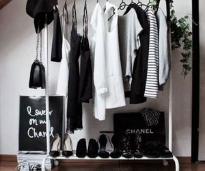 black and white and decor image