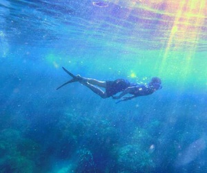 beach, summer, and under the sea image