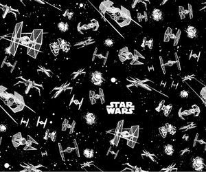 background, star wars, and black and white image