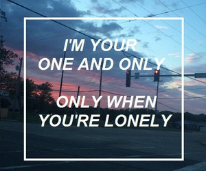 quotes, grunge, and lonely image