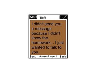 text message, unsent project, and röra blue image