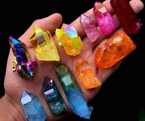 crystal, rainbow, and colors image