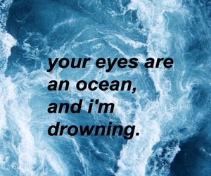 ocean, blue, and eyes image