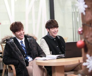 the heirs, lee min ho, and kim woo bin image