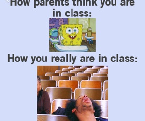 funny, class, and school image
