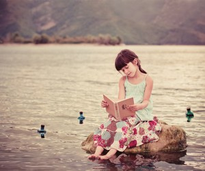 book, girl, and to image