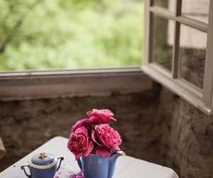 flowers, green, and window image
