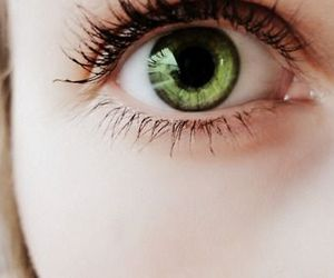 beautiful, girl, and green eyes image