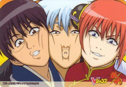 gintama, kagura, and gintoki image
