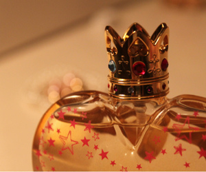 perfume, crown, and gold image