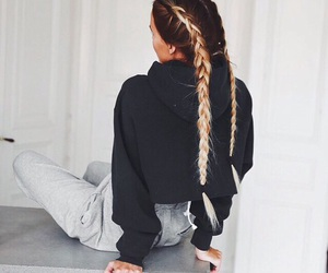 braids, hair, and french image