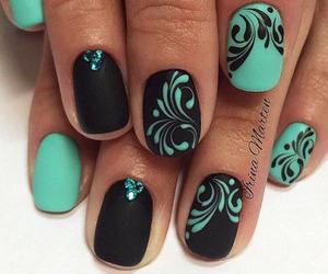 nails, black, and nailart image