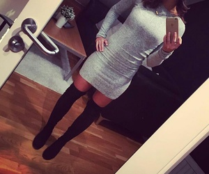 dress, grey, and night out image