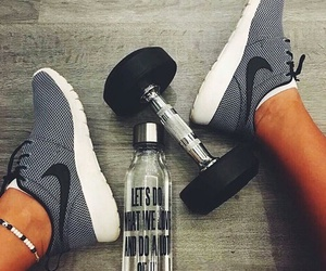 fitness, running shoes, and grey image